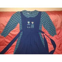 Vestido De Niña Con Delantal Talla 8