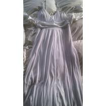 Vestido Largo De Fiesta Blanco Talla M