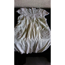 Vestido-nuevo-elegante Macramé- Talla M-beigh
