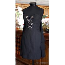Exclusivo Vestido Noche Strapless Corset Ts/40