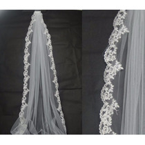 Velo De Novia Blanco Nupcial Boda Matrimonio Ceremonia