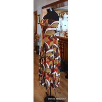 Vestido Lanilla Invierno Colores Tierra Strapless Tm
