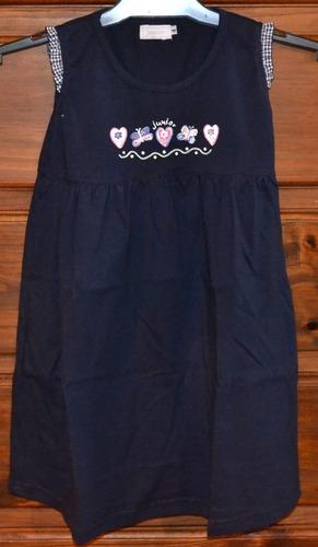 vestidos algodón junior pima 2 colores 4-10a little treasure