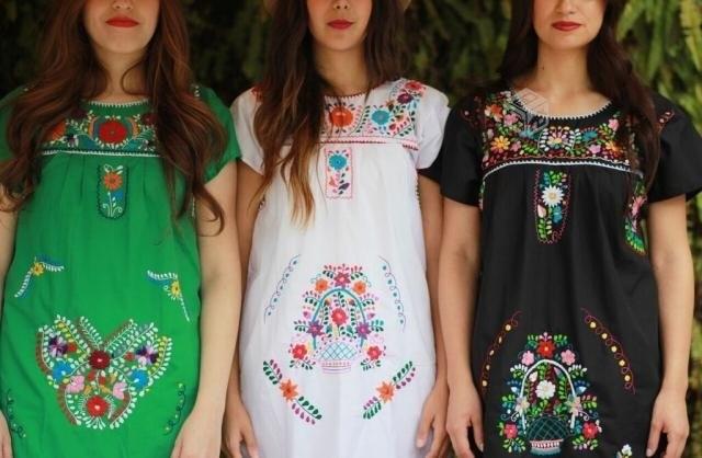 58632c794 Vestidos Artesanales Mexicanos Bordados -   370.00 en Mercado Libre