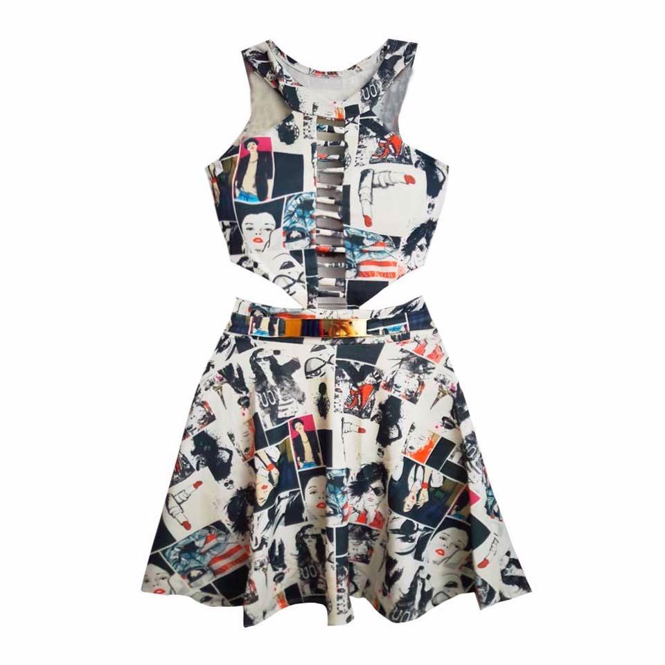 645b1a1fd vestidos baratos online para balada vestido rodado estampado. Carregando  zoom.