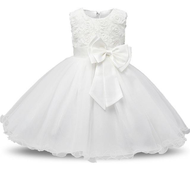 abba054aa04b Vestidos Bautizo Para Bebé Niña Fiesta Pajecita Tutus Flores