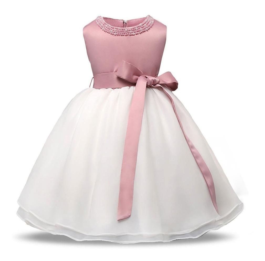 a36265c54052 Vestidos Bautizo Para Bebé Niña - Fiesta Pajecita Tutus Rosa