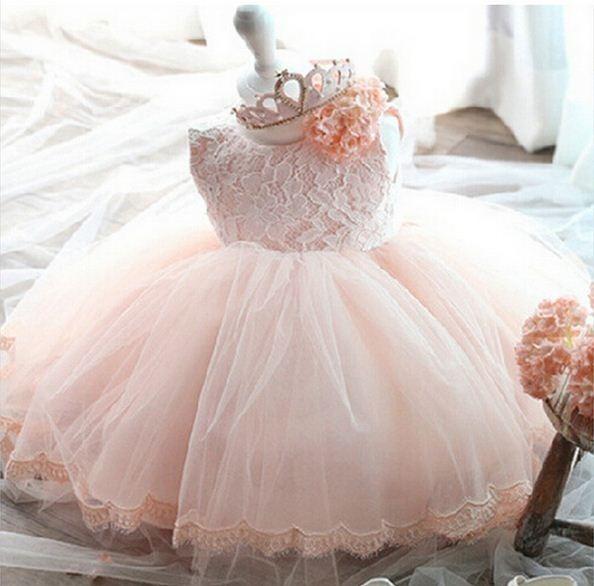 Vestidos Bautizo Para Bebé Niña Rosado Pajecita Tutus
