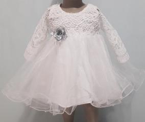 Vestidos Bautizo Para Bebe Niña Talla 0 3 Meses