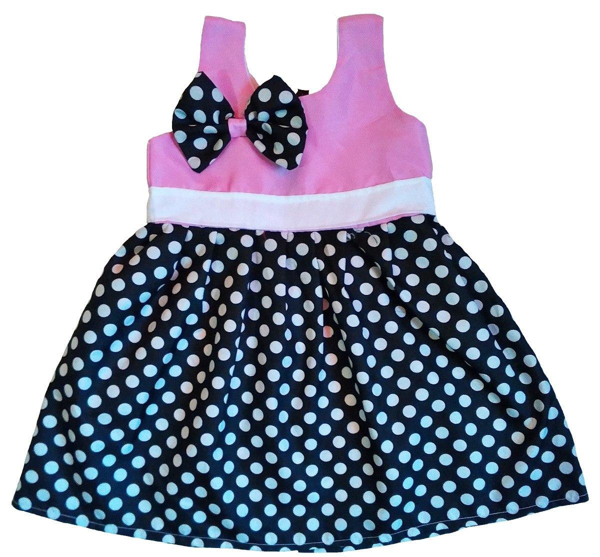 7770ff7bfcebf Vestidos Bebé Niña Moda Animal Print Pepas Rayas 12 A 18 - Bs. 2