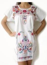 vestidos bordados mexicanos cortos