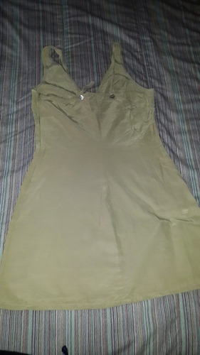 vestidos camel corto