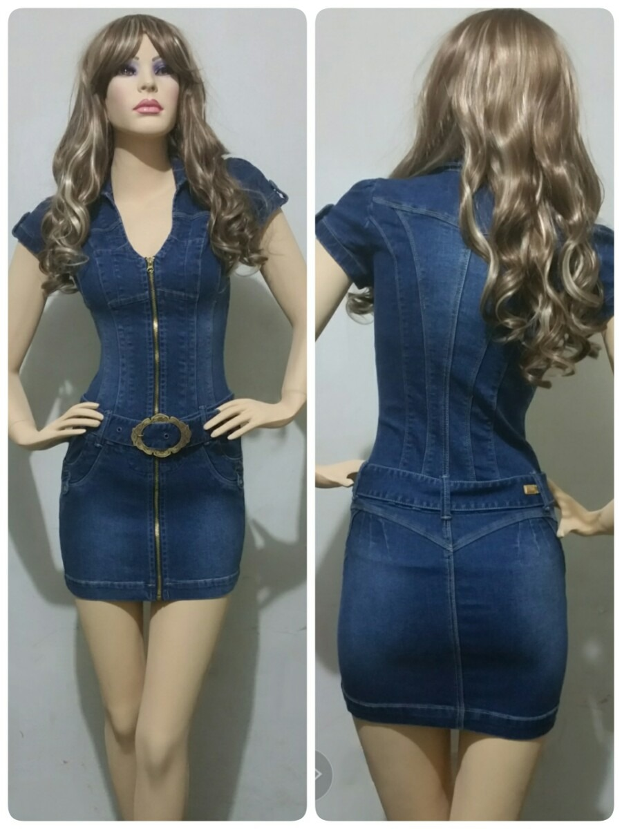 Modelos de vestidos en jeans cortos