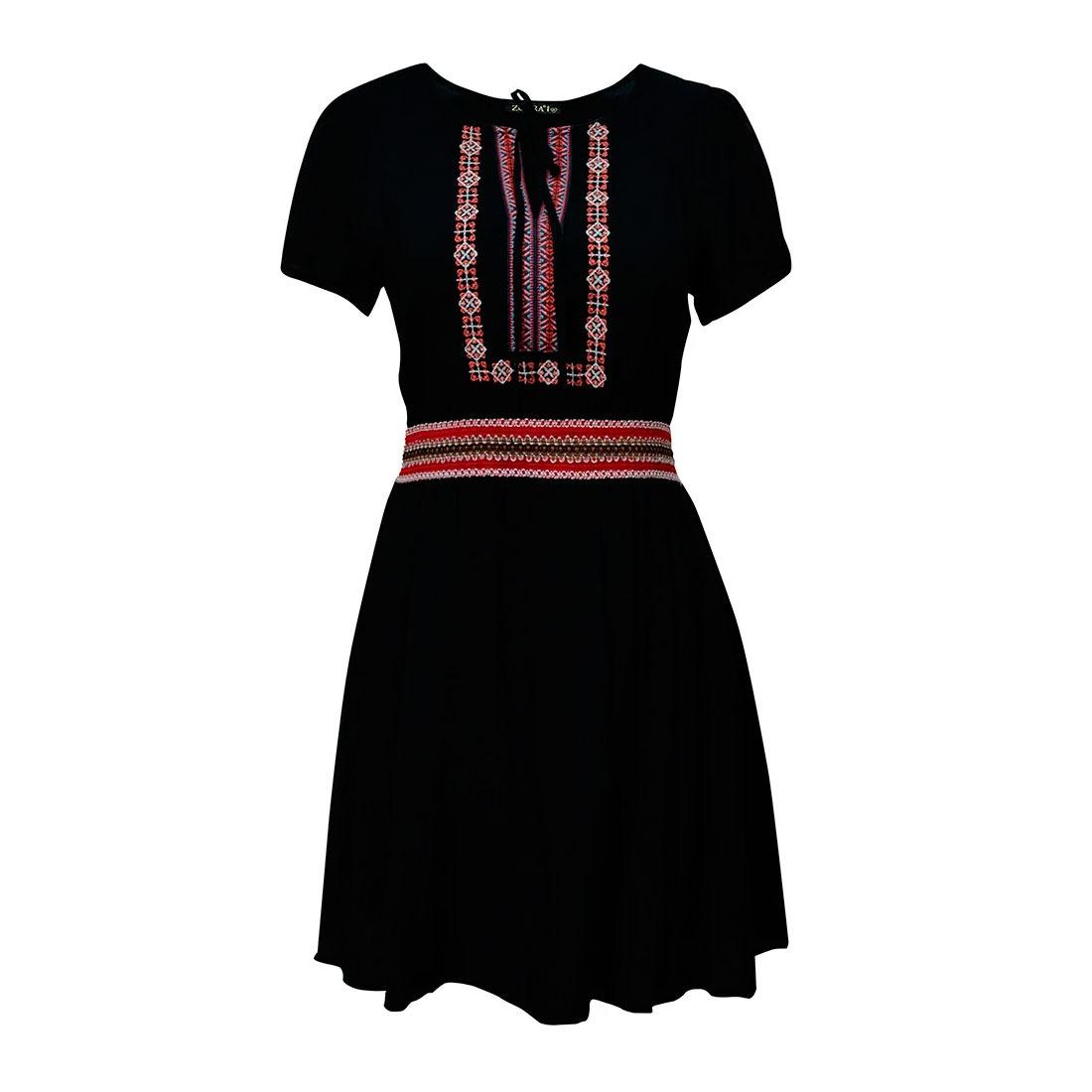 7c785fadf5 vestidos casuales dama detalle bordado falda holgada zoara. Cargando zoom.