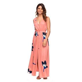 8aec701b16c5 Vestidos Casuales Dama Diseño Largo Bolsillos Italianos Roxy