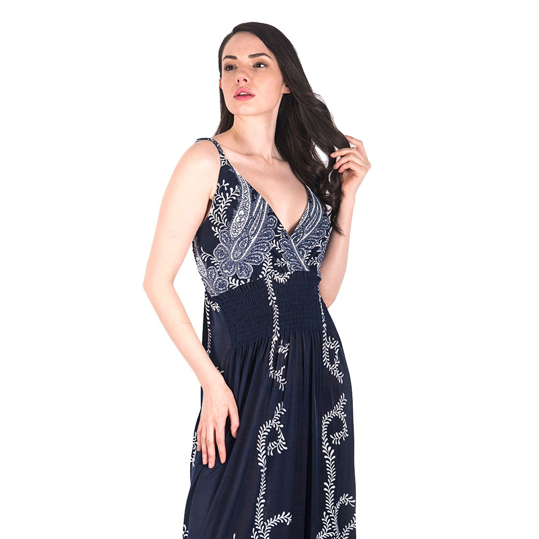 c4ea8a0cd vestidos casuales dama largos estampado azul holgado zoara. Cargando zoom.