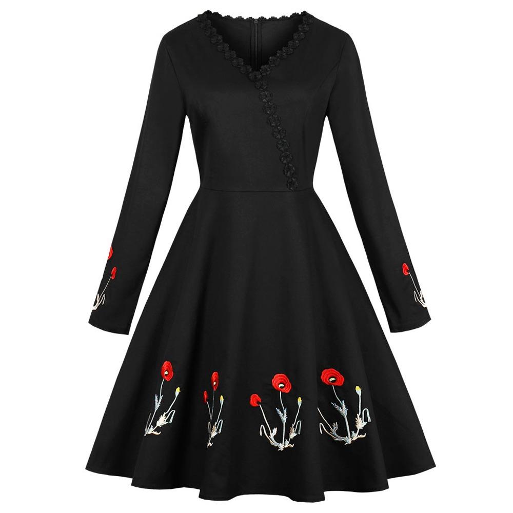 9b9fccb8c Vestidos Casuales Dama V-cuello Vestido Elegante Sencillo -   470.73 ...