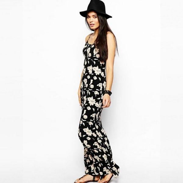 Vestidos casuales de flores largos