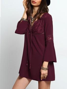 vestidos casuales manga corta sensual primavera