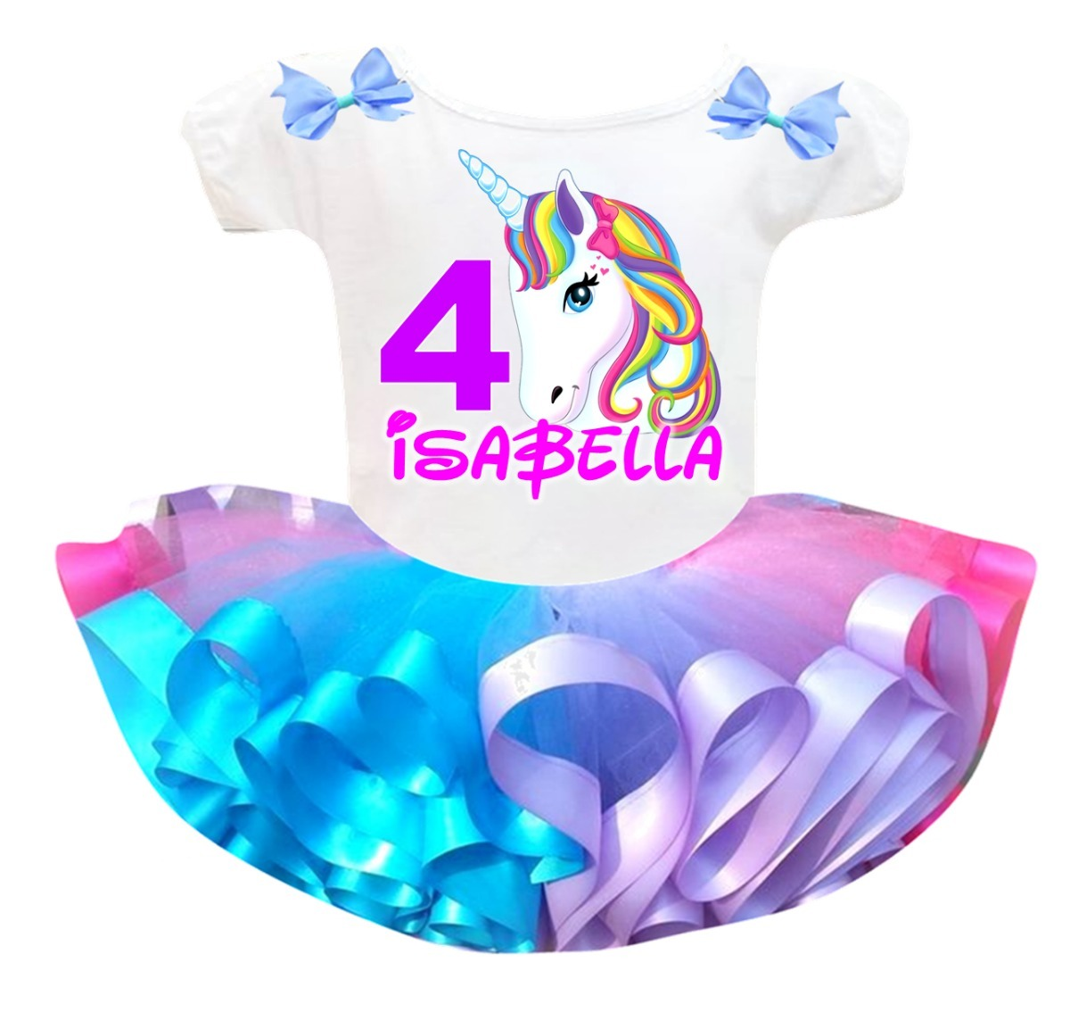 Vestidos Conjuntos Para Nina Cumpleanos Unicornio Minnie Bs 3 800