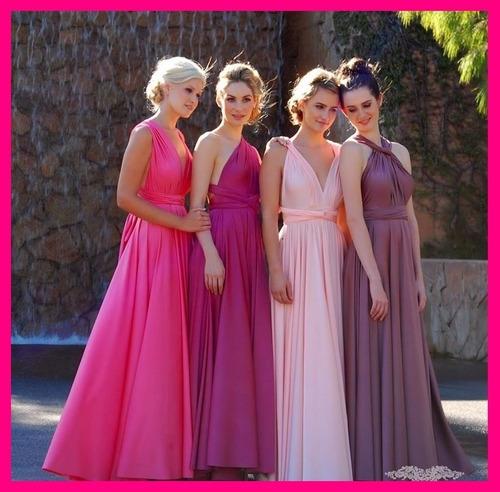 vestidos convertibles 30 en 1 damas d honor largo top + dvd