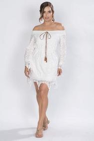 Vestidos Cortos Blancos Casuales Encaje Juveniles S81200