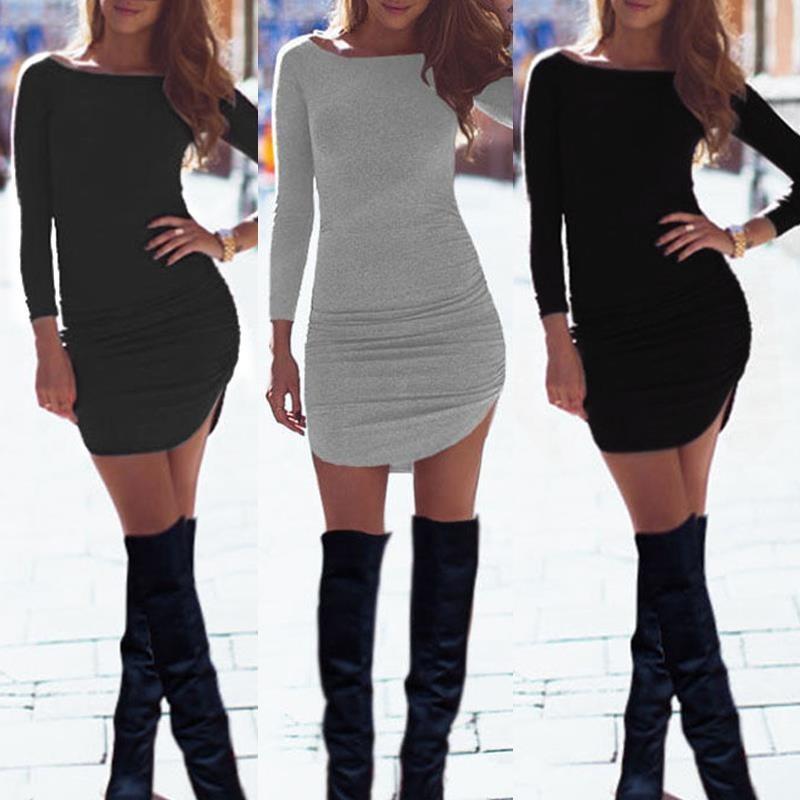 Vestidos cortos casuales asimetricos