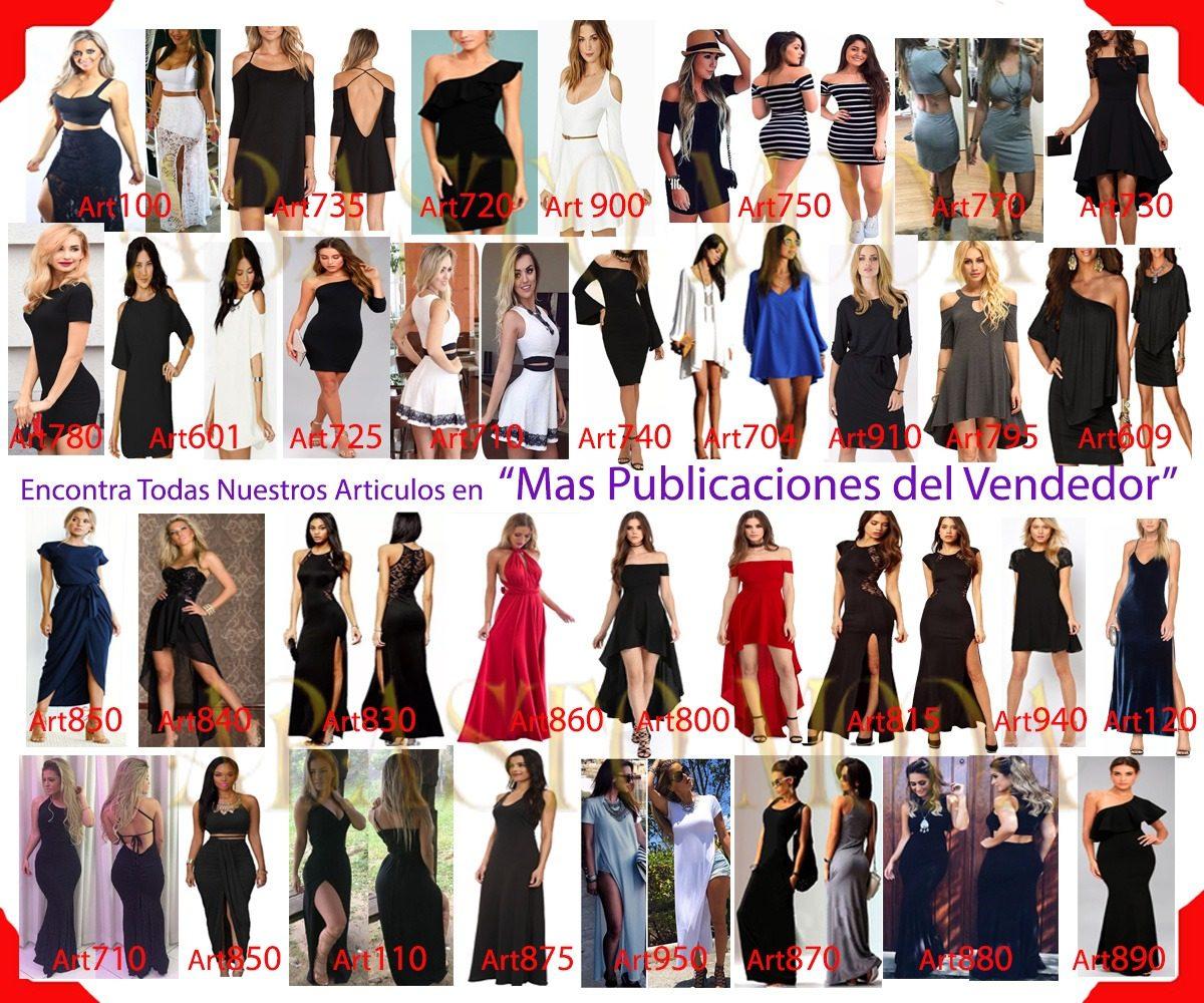 Vestidos Cortos Para Varios Tipo Fiesta Vestido Mujer Art609 ... 49c4dd8be5f0