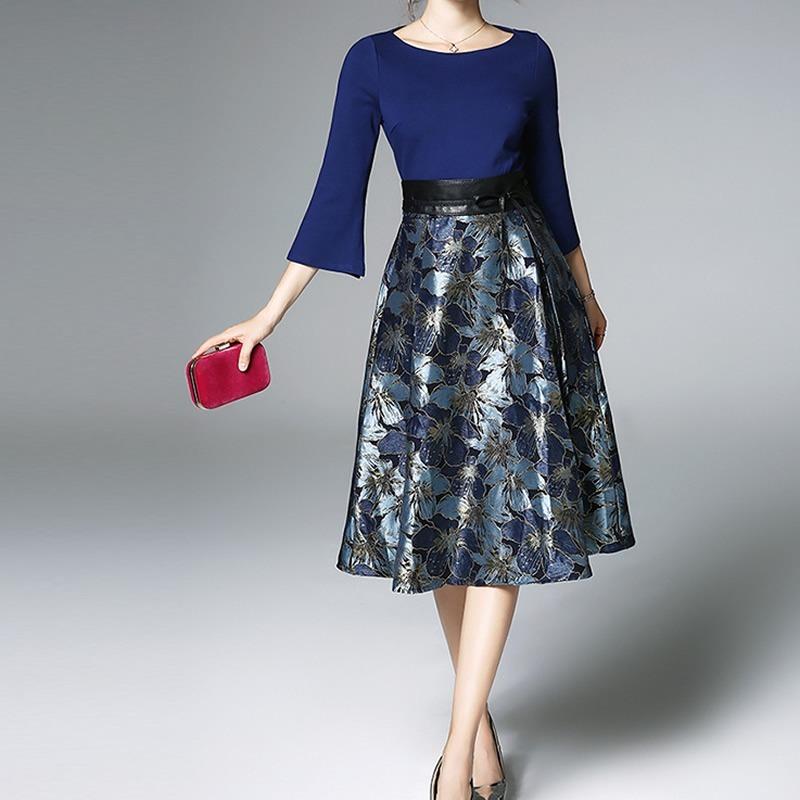 2ab25ed23 Vestidos casuales de moda ala rodilla – Vestido azul