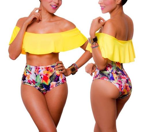 vestidos de baño bikinis panty altos campesinos trajes 1511