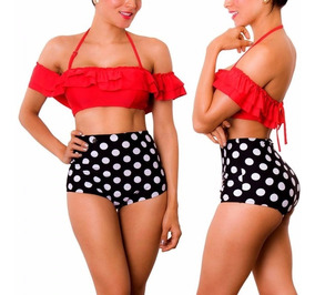 8e3f7567670f Vestidos De Baño Bikinis Retro Panty Altos Copas Praie 1415