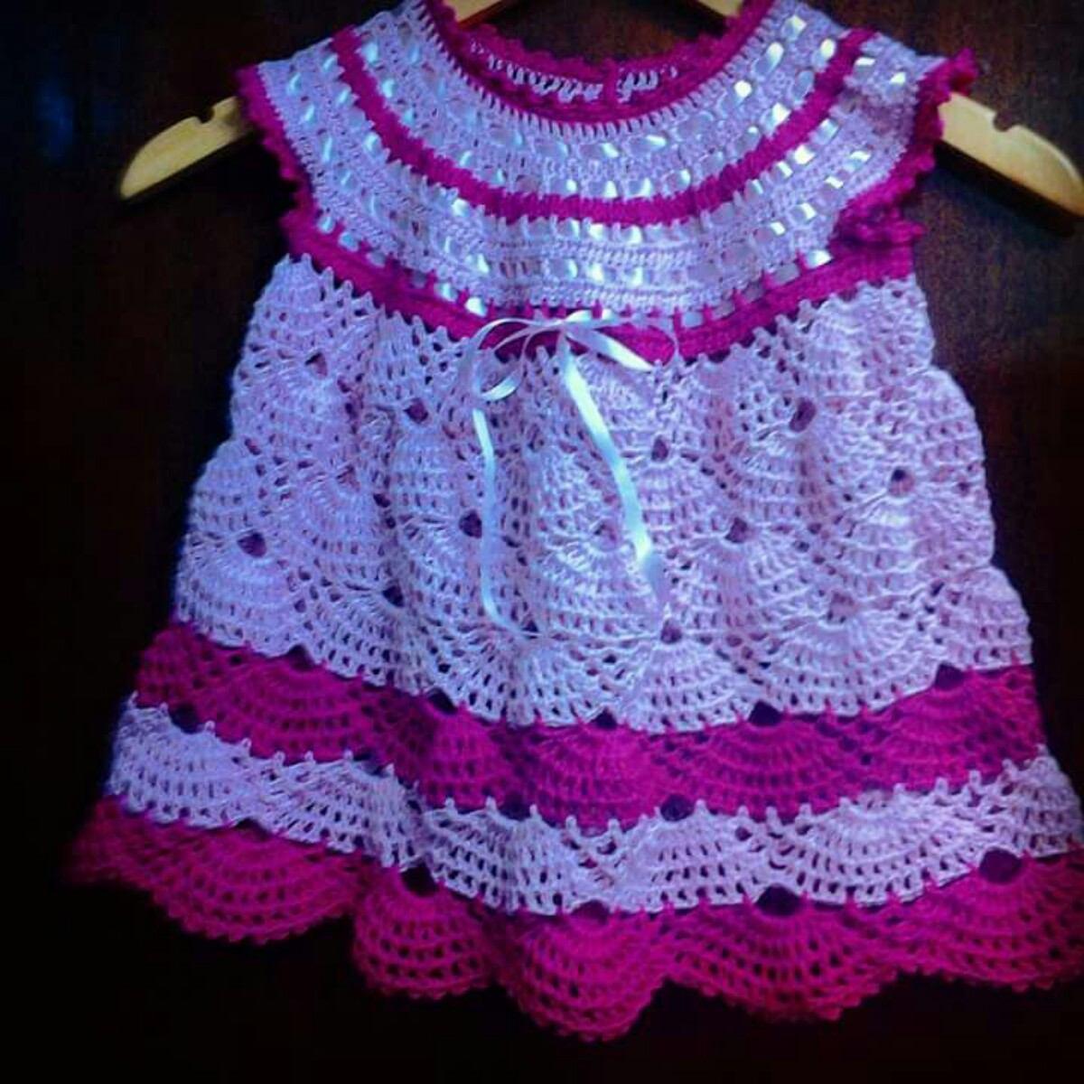 e4ea93789988 Vestidos De Bebe Em Crochê. - R$ 60,00 em Mercado Livre