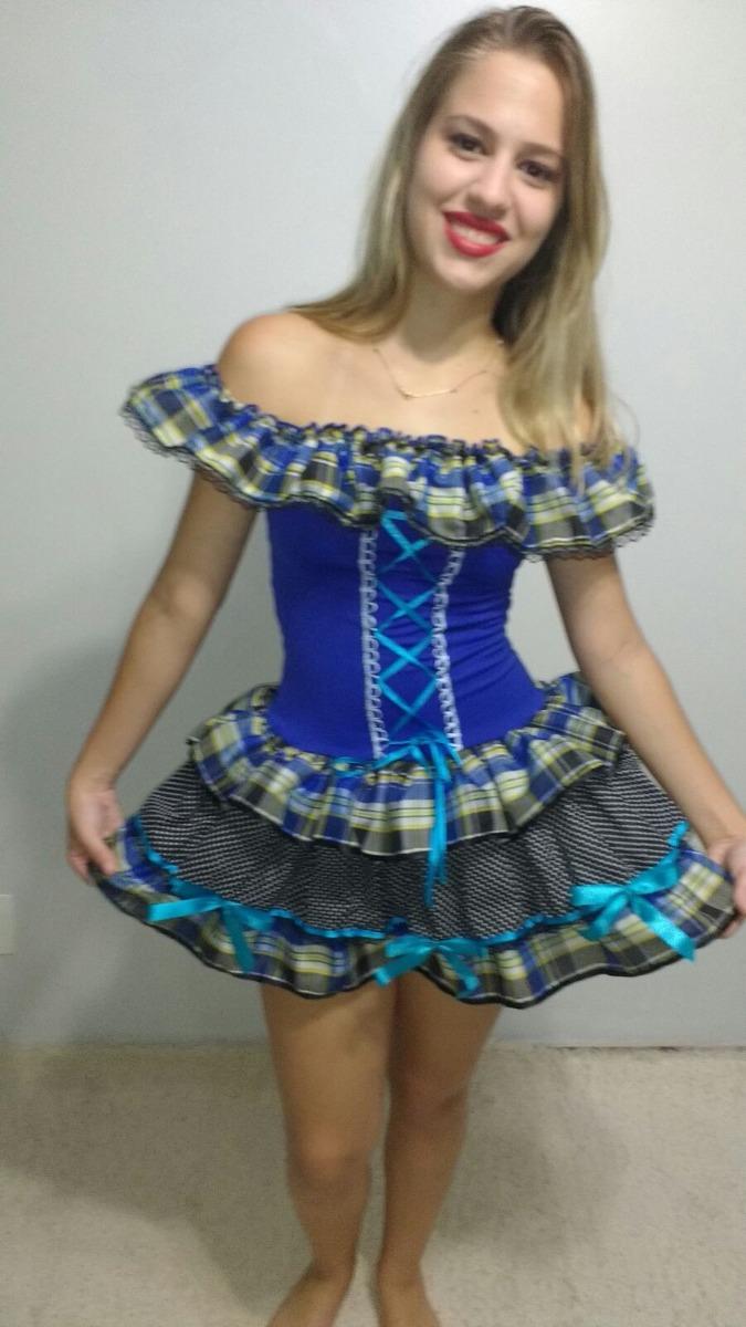vestidos de caipira festa junina diversos modelos adultos. Carregando zoom. fde77a7dfaf