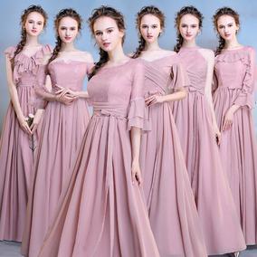 df446359b Vestido Dama Honor Color Vino - Vestidos de Mujer Rosa en Mercado ...