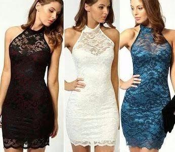 vestidos de encaje... colores y modelos varios