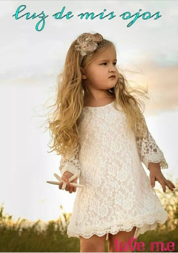 vestidos de encaje para nena bautismo comunion fiestacortejo