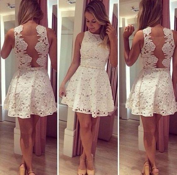 Vestidos encaje elegantes