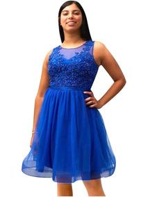 c42cd36a6 Vestido Color Azul Lavanda De Noche Corto - Vestidos en Mercado ...