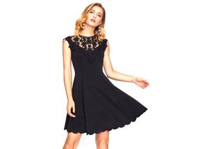 8666f5a0d Vestidos De Mujer Corto Manga Larga Negro Encaje - Ropa y Accesorios ...