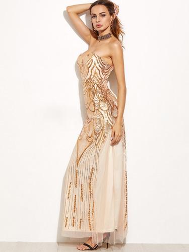 vestidos de fiesta importado strapless - fino y elegante