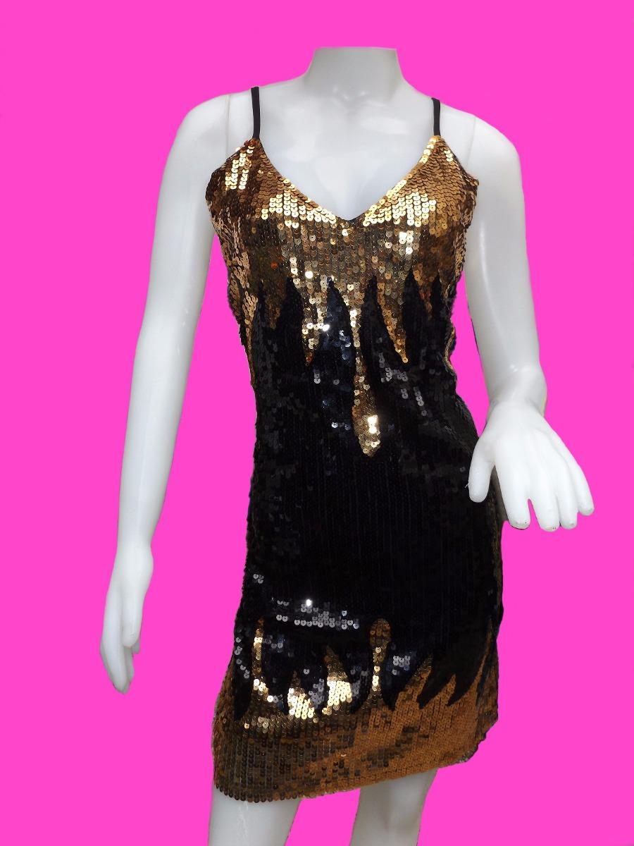 Vestidos De Fiesta Lentejuelas Cortos Elastizados Tango - $ 449,00 ...
