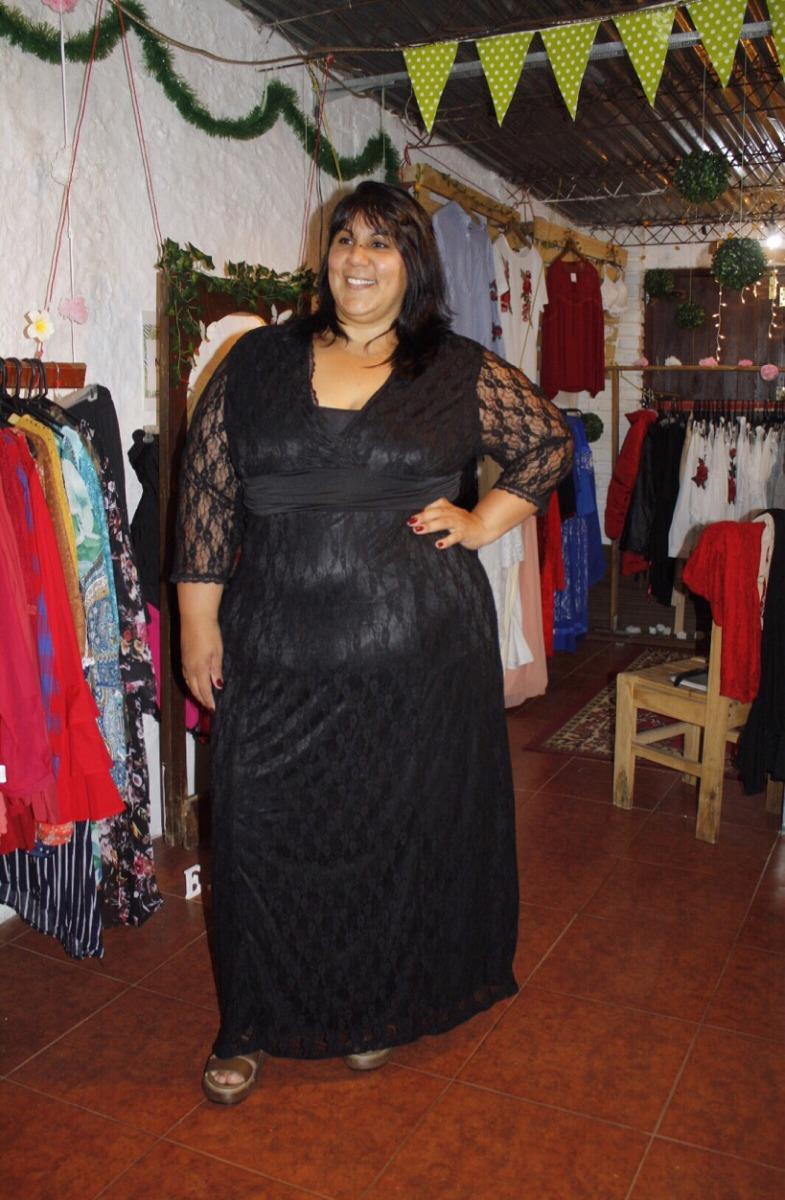 Vestidos de fiesta talles grandes mercadolibre