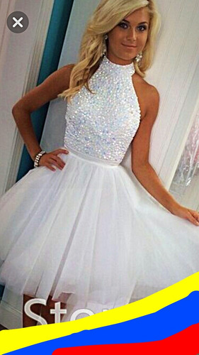 vestidos de fiestas elegante juveniles cortos con brillos