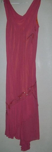 vestidos de gasa con canutillos largos t l a xl $ 1100