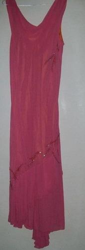 vestidos de gasa con canutillos largos t l a xl