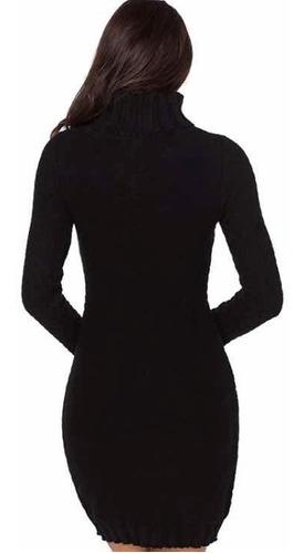 vestidos de invierno con cuello beatle
