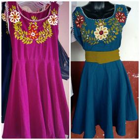Vestidos De Manta De Colores Bordados A Mano