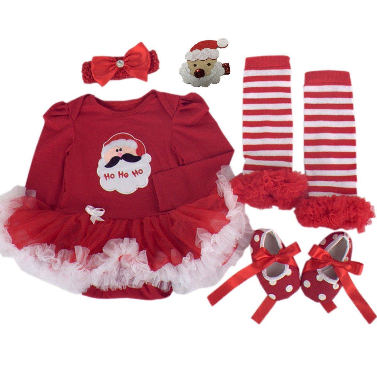 Vestidos de navidad para beb s trajes de santa ropa para - Trajes de navidad para bebes ...
