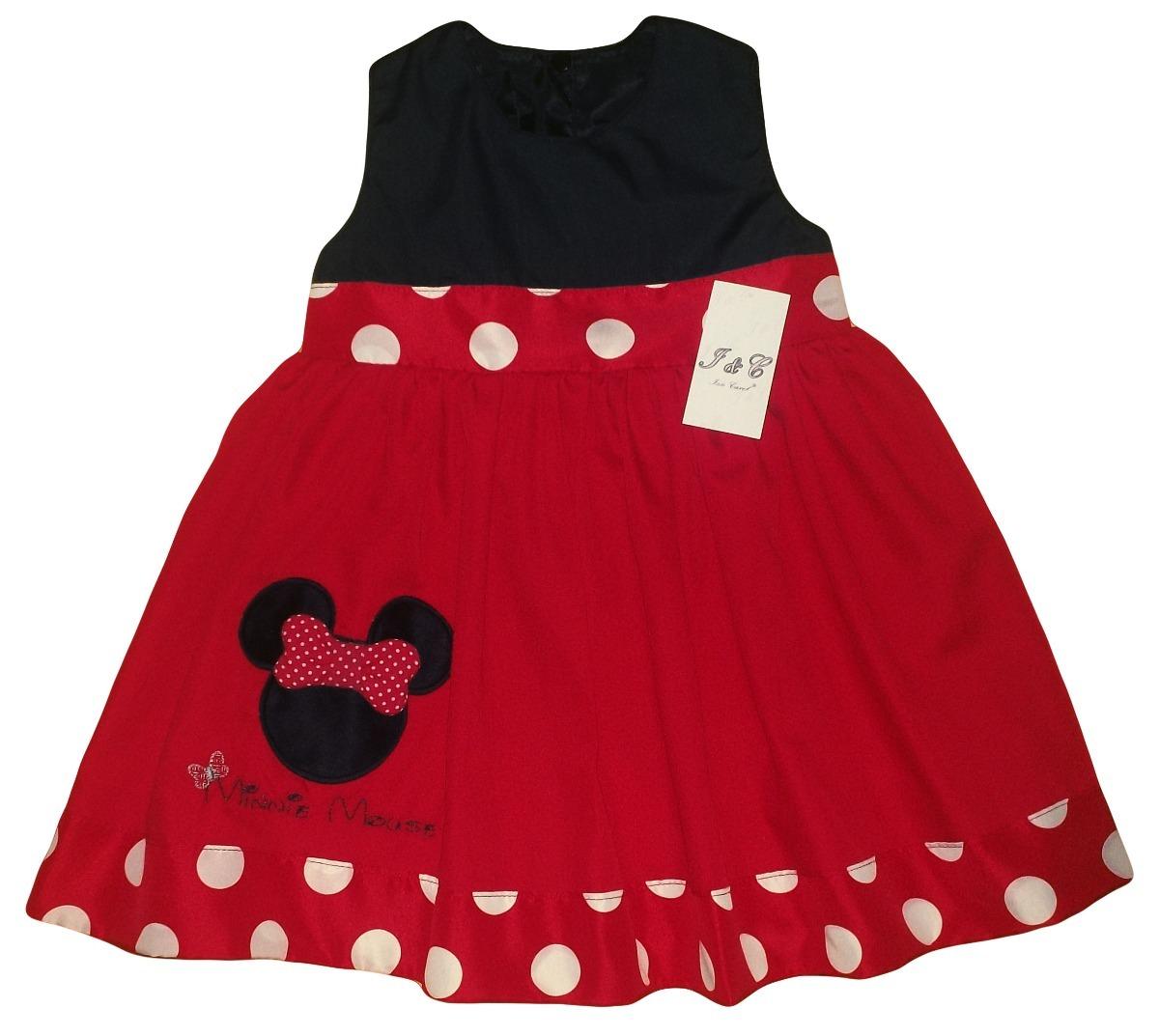 Vestidos de minnie en rojo y negro