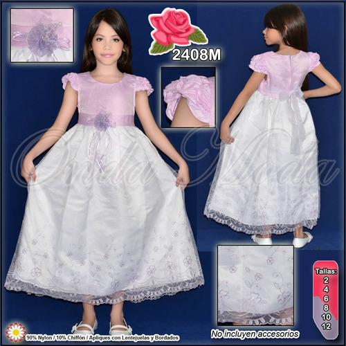 vestidos de niña bautizo elegantes cortejo fiesta pajecitas